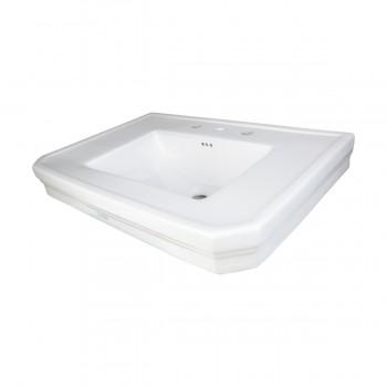 <PRE>Bathroom Pedestal Sink Basin White China Victoria Widespread</PRE>zoom8