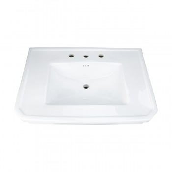 Bathroom Pedestal Sink Basin White China Victoria Widespread