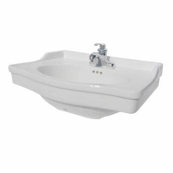 Renovator's Supply White Bathroom Pedestal Sink Basin China Homestead Centerset17812grid