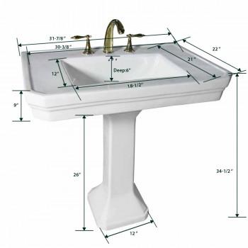 Pedestal Sinks - Victoria Pedestal Sink White 8 in. Widespread by the Renovator's Supply