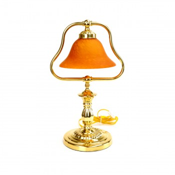Table Lamp Amber Polished Brass Table Lamp 17