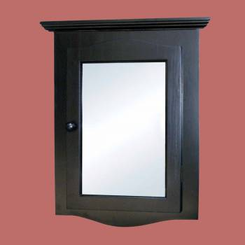 <PRE>Black Solid Wood Corner Medicine Cabinet Recessed Mirror </PRE>zoom2
