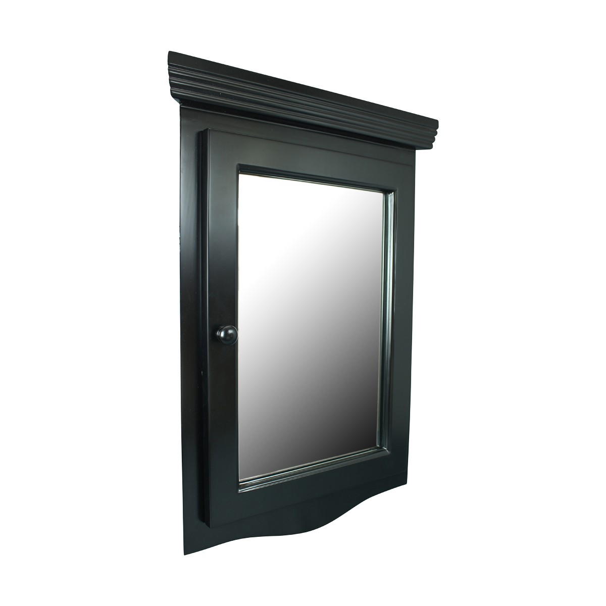 Black Solid Wood Bathroom Corner Medicine Cabinet Recessed Mirror Mirrored Medicine Cabinet Medicine Cabinet Organizer Medicine Cabinet Shelf