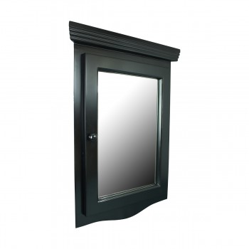 <PRE>Black Solid Wood Corner Medicine Cabinet Recessed Mirror </PRE>zoom4