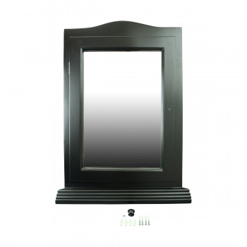 <PRE>Black Solid Wood Corner Medicine Cabinet Recessed Mirror </PRE>zoom9