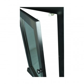 <PRE>Black Solid Wood Corner Medicine Cabinet Recessed Mirror </PRE>zoom10
