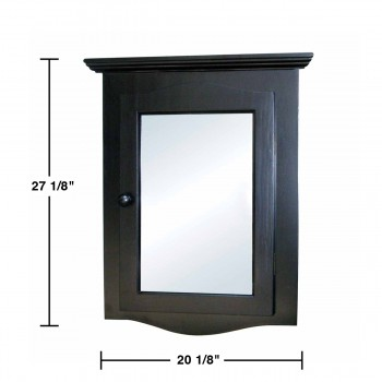 spec-<PRE>Black Solid Wood Corner Medicine Cabinet Recessed Mirror </PRE>