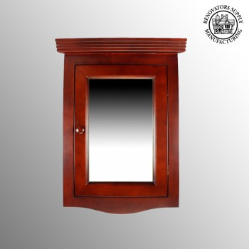 <PRE>Renovator's Supply Cherry Hard Wood Corner Wall Mount Medicine Cabinet Mirror</PRE>zoom2