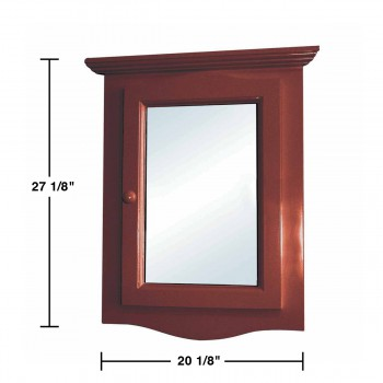 spec-<PRE>Renovator's Supply Cherry Hard Wood Corner Wall Mount Medicine Cabinet Mirror</PRE>