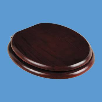 <PRE>Toilet Seats Cherry Finish Hardwood Round Chrome Imperfect </PRE>zoom2