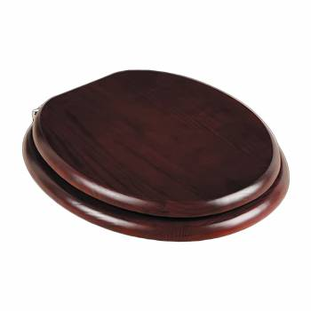 <PRE>Toilet Seats Cherry Finish Hardwood Round Chrome Imperfect </PRE>zoom1