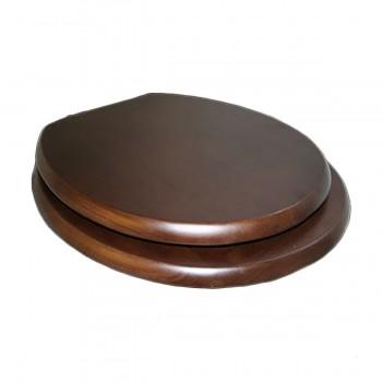 Toilet Seats Dark Oak Hardwood Elongated Imperfect 17932grid