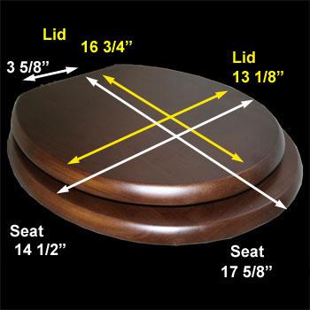 spec-<PRE>Toilet Seats Dark Oak Hardwood Elongated Imperfect </PRE>