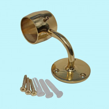 spec-<PRE>Brass Loop Style Wall Mount Bar Bracket Fitting 2&quot; OD </PRE>