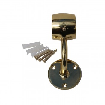 <PRE>Brass Loop Style Wall Mount Bar Bracket Fitting 2inch OD </PRE>zoom4