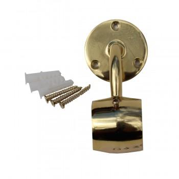 <PRE>Brass Loop Style Wall Mount Bar Bracket Fitting 2inch OD </PRE>zoom5