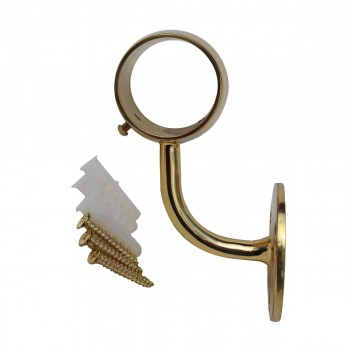 <PRE>Brass Loop Style Wall Mount Bar Bracket Fitting 2inch OD </PRE>zoom7