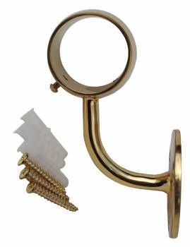 <PRE>Brass Loop Style Wall Mount Bar Bracket Fitting 2&quot; OD </PRE>