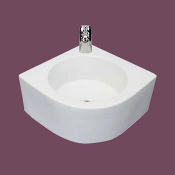 <PRE>Bathroom Corner Vessel Sink White China Melinda Faucet Hole </PRE>