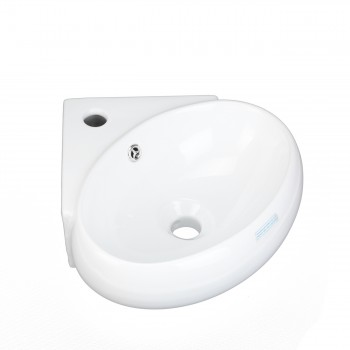 White Corner Bathroom Wall Mount Sink Vessel Counter Round Bathroom Wall Mount Sinks Modern White Bathroom Sink Vitreous China Bathroom Sinks
