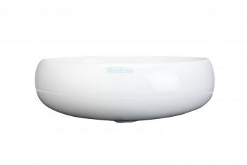 <PRE>Renovator's Supply White Corner Bathroom Wall Mount Sink Vessel Counter Round </PRE>zoom6