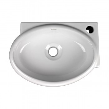 <PRE>Corner Wall Mount Bathroom Sink Above Counter Vessel White </PRE>zoom3