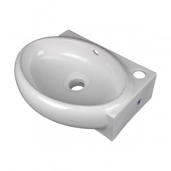 <PRE>Corner Wall Mount Bathroom Sink Above Counter Vessel White </PRE>zoom4