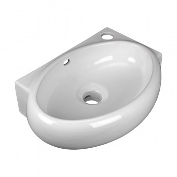 <PRE>Corner Wall Mount Bathroom Sink Above Counter Vessel White </PRE>zoom5