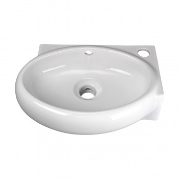Corner Wall Mount Bathroom Sink Above Counter Vessel White