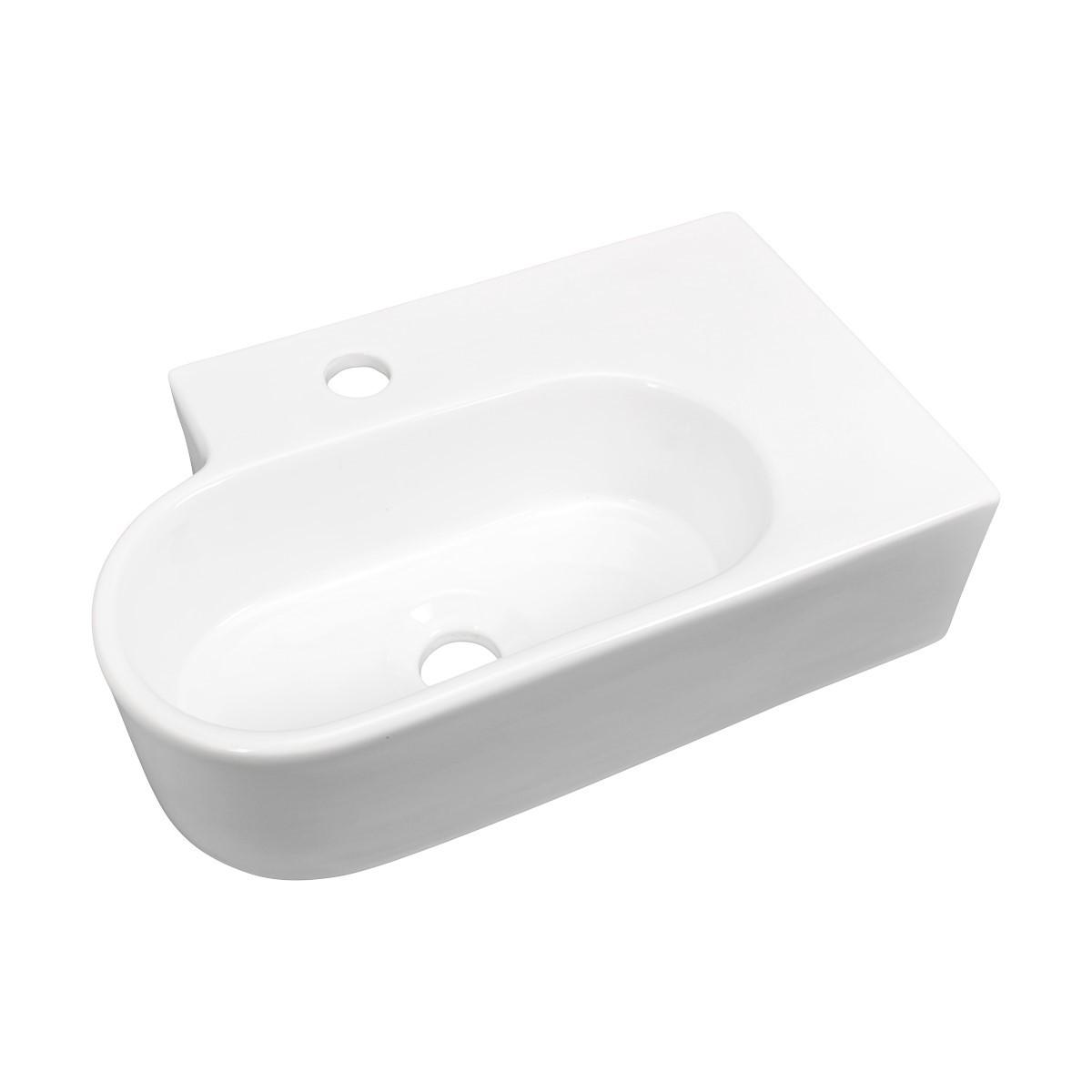 ... U003cPREu003eCorner Sink White Vitreous China Edwin Corner Over Counter Mount  U003c/ ...