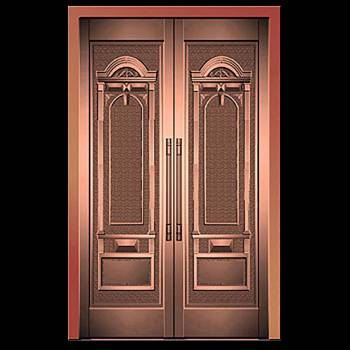 Security Door Copper Steel Security Door Copper over Steel17953grid
