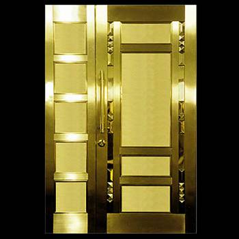 Security Door Copper Steel Security Door Copper over Steel17954grid