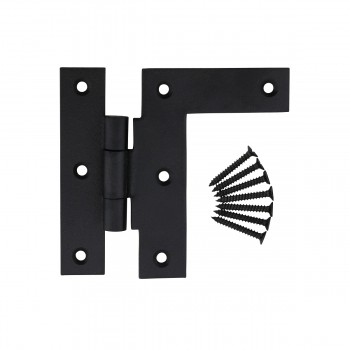 Black Iron 38 Offset Cabinet Hinges Wrought Iron H L Right Only 3.5H Wrought Iron Door Hinges Black Door Hinges Rustproof Cabinet Hinges