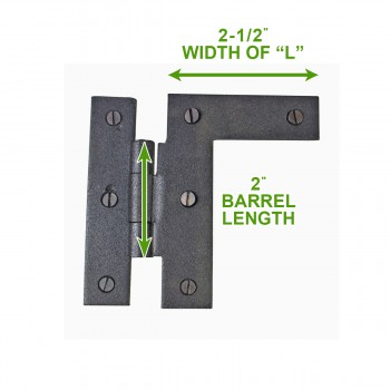 "spec-<PRE>Black Iron 3/8"" Offset Cabinet Hinges Wrought Iron H L Right Only 3.5""H </PRE>"