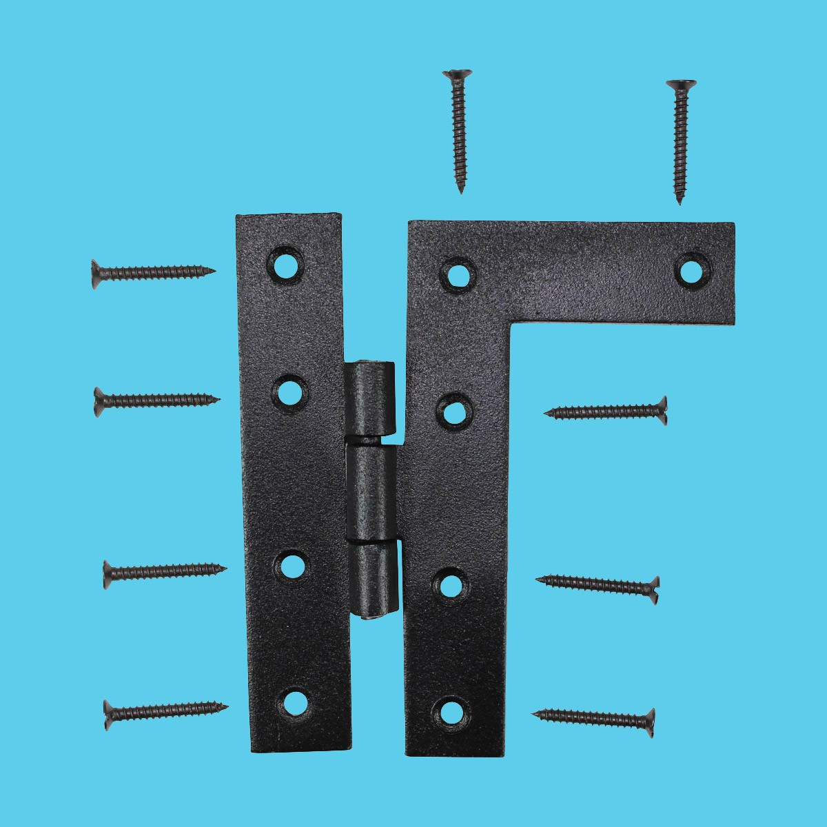 ... U003cPREu003eCabinet Hinges Wrought Iron Black Flush Right Only 4.5inchH U003c/ ...