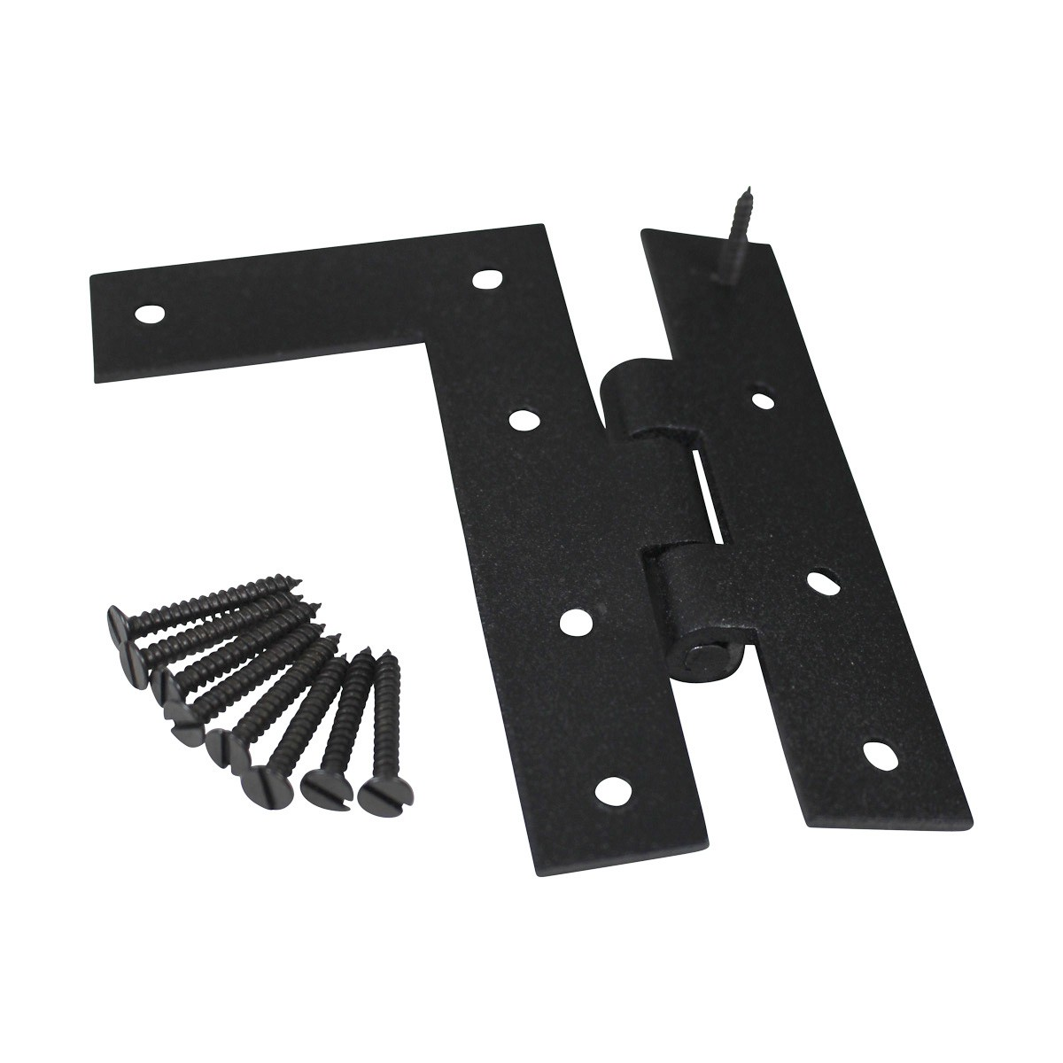 Cabinet Hinges Wrought Iron Black Flush Right Only 4.5H Wrought Iron Door Hinges Black Door Hinges Rustproof Cabinet Hinges