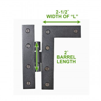 spec-<PRE>Cabinet Hinges Wrought Iron Black Flush Right Only 4.5&quot;H </PRE>