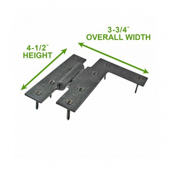 "spec-<PRE>Cabinet Hinges Wrought HL Hinge Right 4 H w/ Offset 3/8""</PRE>"