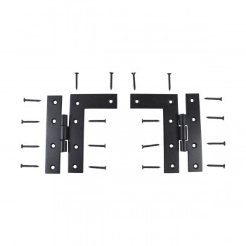 <PRE>Pair Flush H-L Cabinet Hinge Wrought Iron 4.5inchH </PRE>zoom3