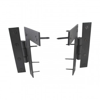 <PRE>Pair Flush H-L Cabinet Hinge Wrought Iron 4.5inchH </PRE>zoom4