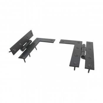 <PRE>Pair Flush H-L Cabinet Hinge Wrought Iron 4.5inchH </PRE>zoom5