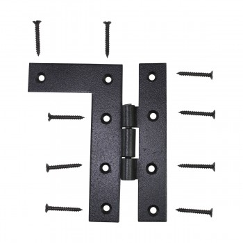 <PRE>Pair Flush H-L Cabinet Hinge Wrought Iron 4.5inchH </PRE>zoom9
