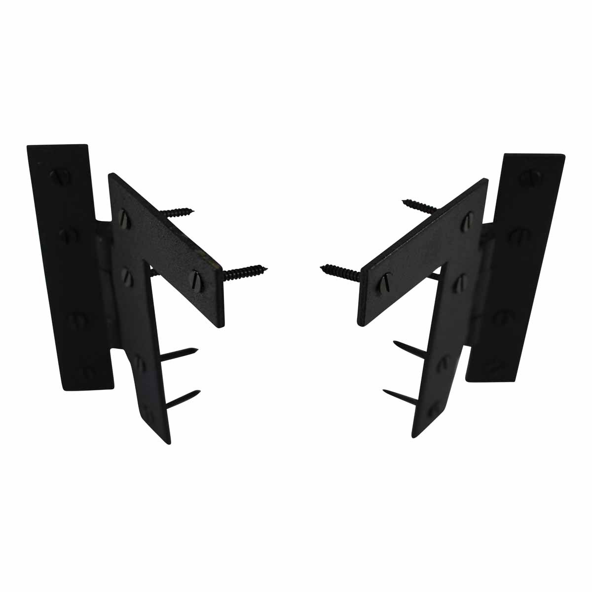 Pair Offset HL Cabinet Hinge Wrought Iron 4 12 H metal classic traditional vintage diy antique hardware victorian old world garden gate armoire rustic ornamental