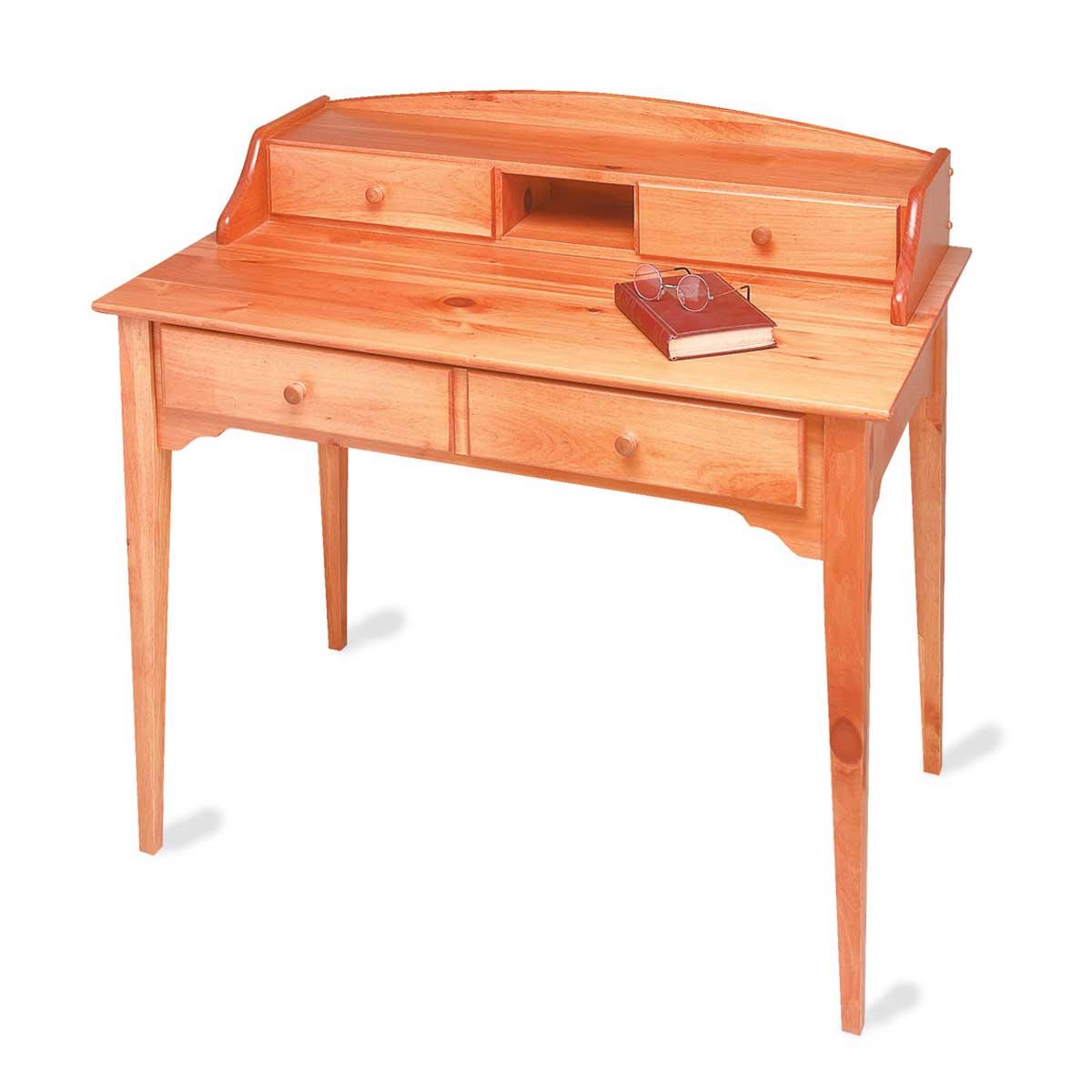 Wood Desk Heirloom Solid Pine Mission Desk For Office