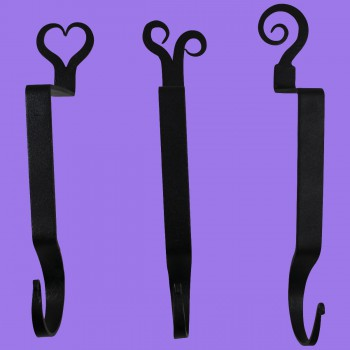 <PRE>Wrought Iron Christmas Stocking Holder 4 Piece Set Black </PRE>