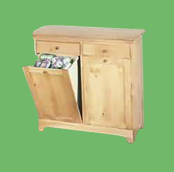 Kitchen Storage Bins County Pine Double 36H x 40W Storage Bin Storage Stools Storage Bench