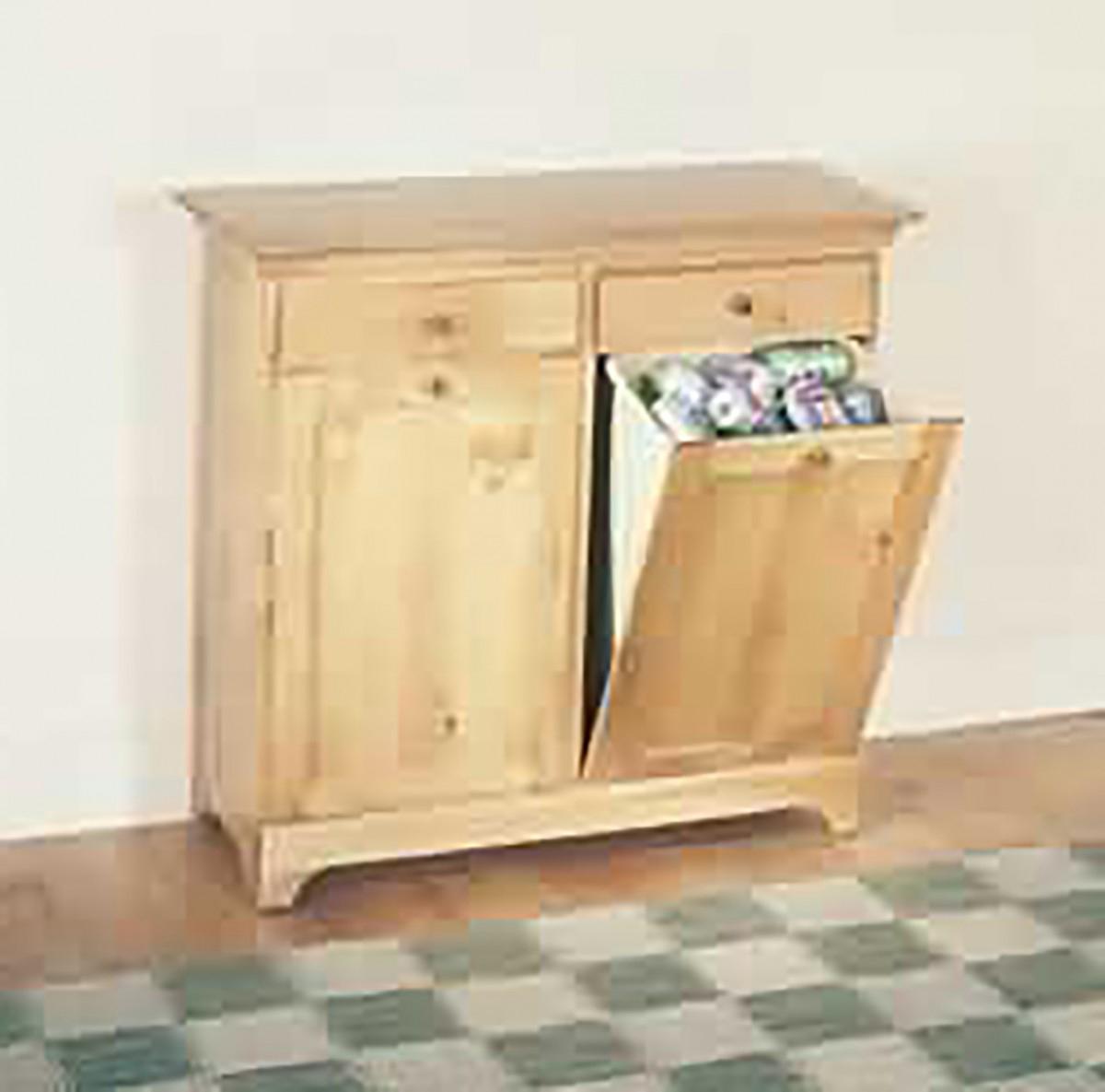 Kitchen Storage Bins County Pine Double 36\