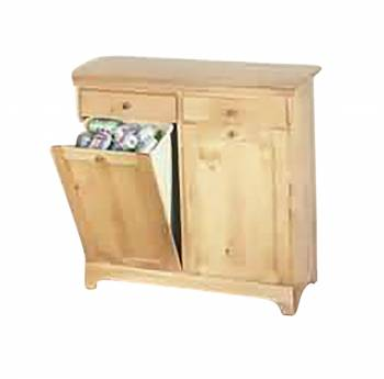 Kitchen Storage Bins County Pine Double 36