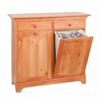 Shaker Heirloom Pine Shaker Double Storage Bin Heirloom Pine180315grid