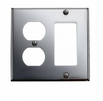 Switchplate Chrome GFI Outlet 18143grid